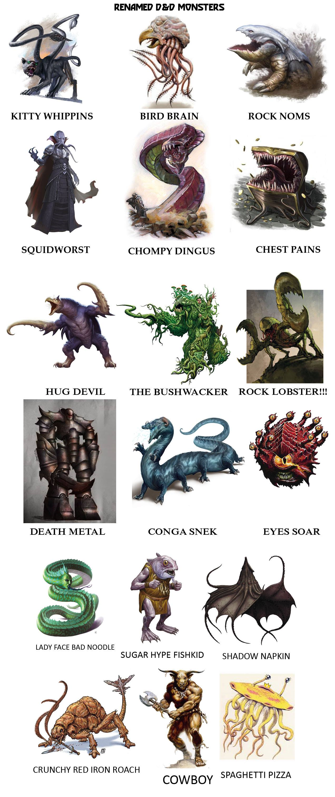 Alternate Names For D D Monsters Dungeons And Dragons Know Your Meme
