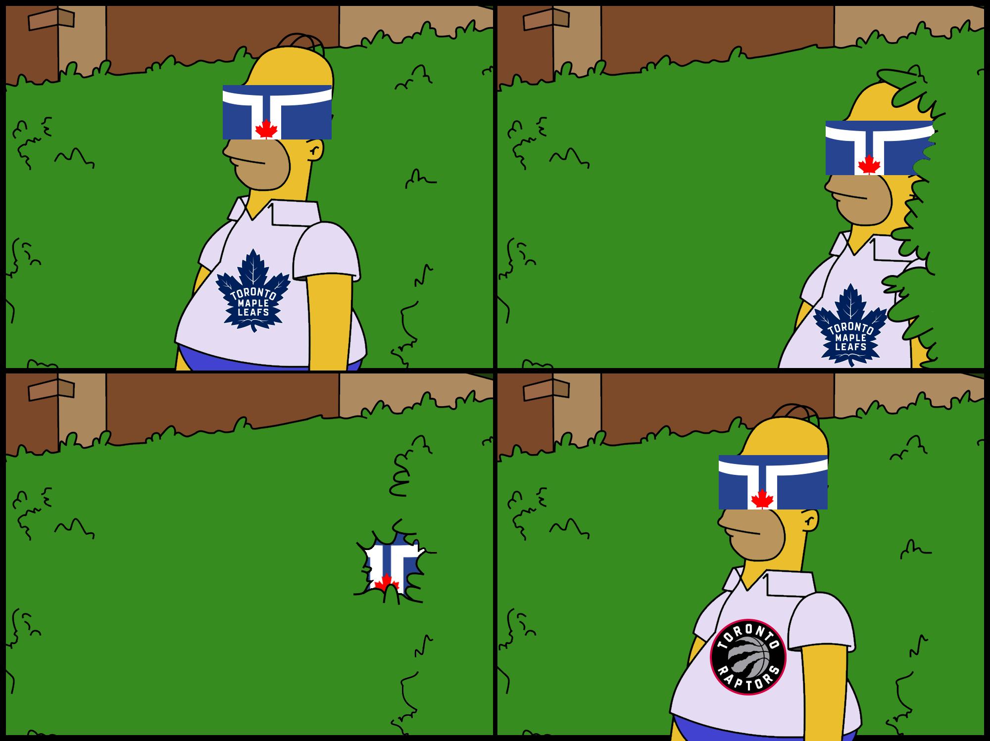 Toronto | Homer Simpson Backs Into Bushes | Know Your Meme