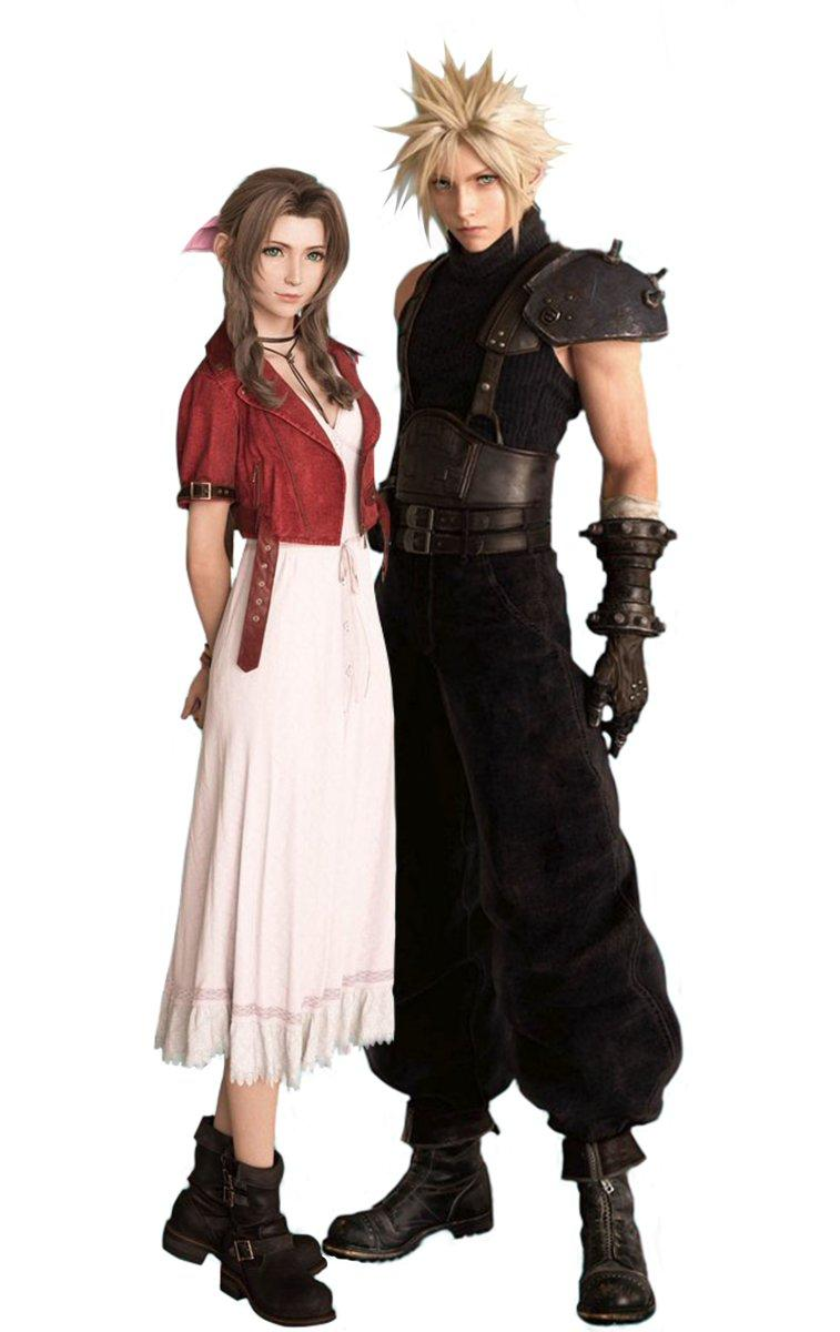Ff7 Remake Aerith And Cloud Side By Side Final Fantasy