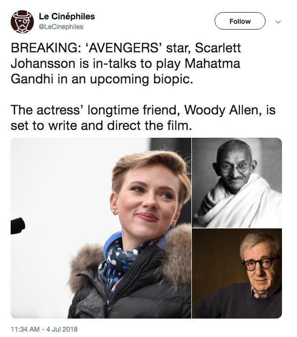 Gandhi Scarlett Johansson Cast As Know Your Meme