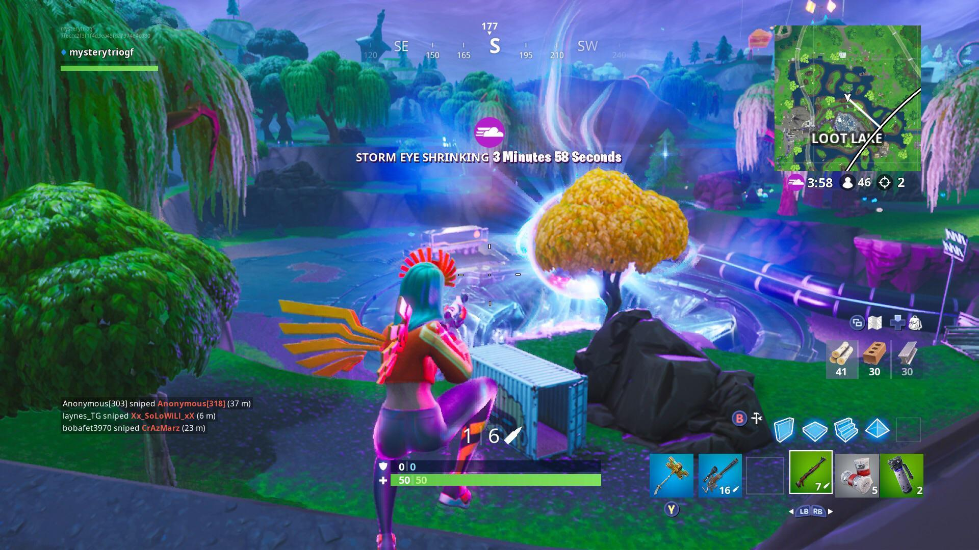 The Zero Point Is Starting To Warp Time The Tree Next To The Vault Has Changed To Autumn R Fortnitebr Fortnite Know Your Meme