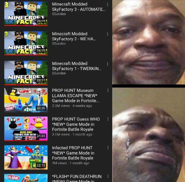 Fortnite has destroyed great channels | r/MinecraftMemes