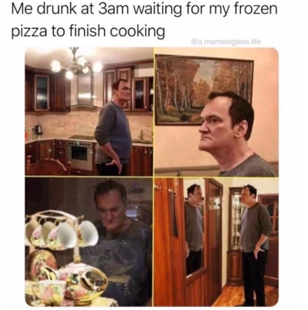 Frozen Pizza | Quentin Tarantino Walking Around | Know Your Meme