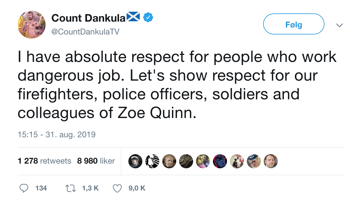 Count Dankula salutes every-day heroes    Alec Holowka