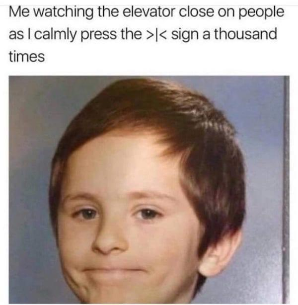 Elevator Awkward White People Smile Know Your Meme