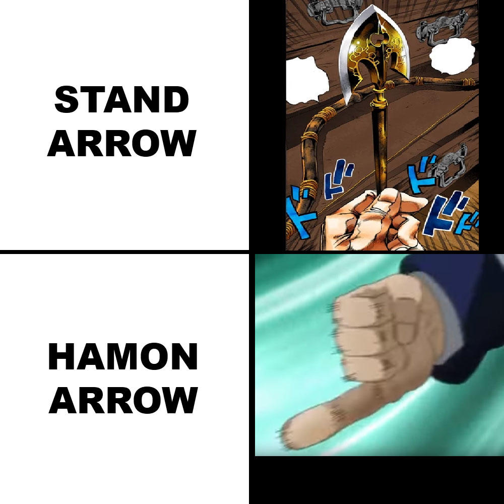 If You Re Unworthy You Just Get Stomach Ache Instead Of Dying Jojo S Bizarre Adventure Know Your Meme The stand arrow is an arrow with a golden arrowhead with an ornate design. stomach ache instead of dying