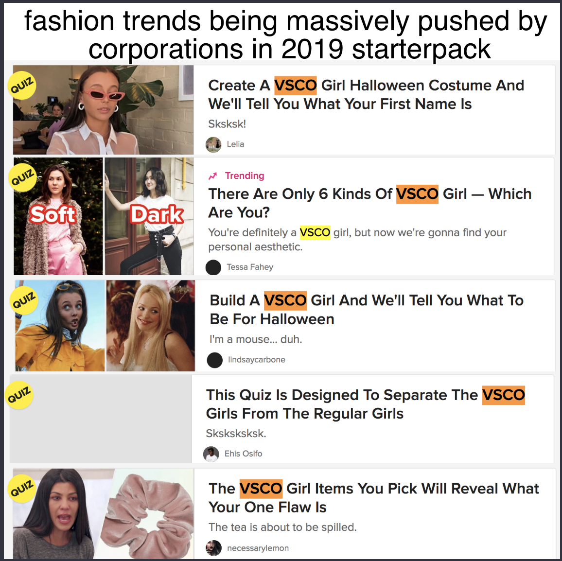 fashion trends being massively pushed by corporations in