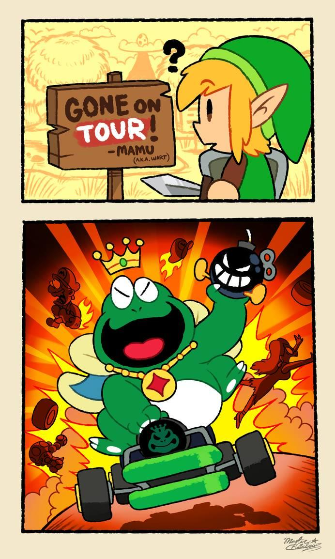 The Great King Wart Goes On Tour Mario Kart Know Your Meme