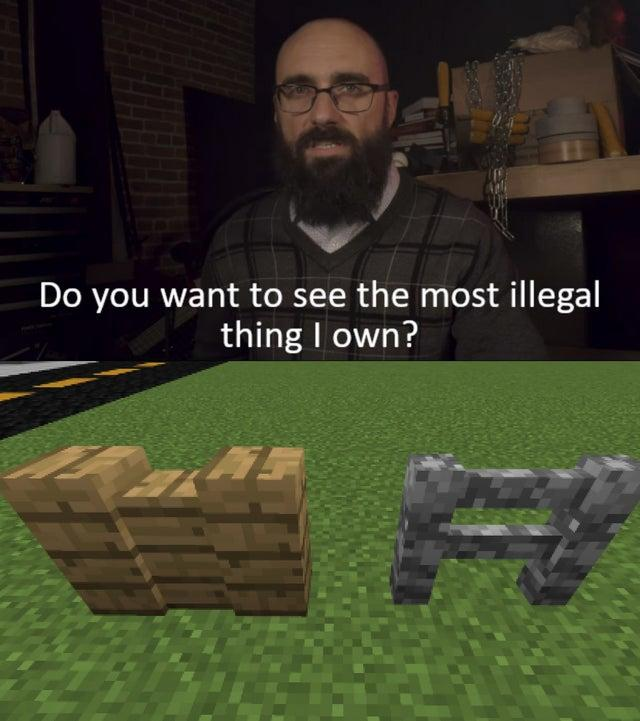 Cursed Fence Gate R Minecraftmemes Minecraft Know Your Meme