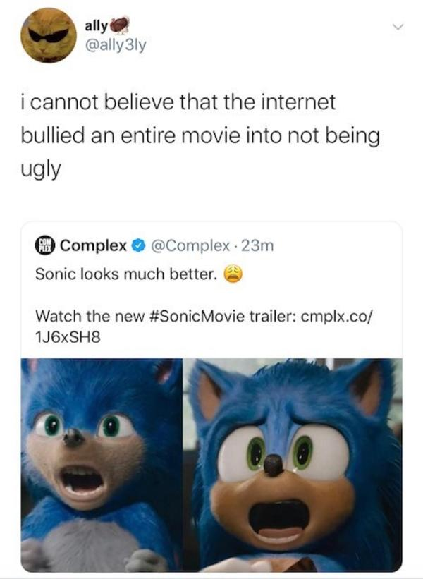 A Case In Favor Of Bullying Sonic The Hedgehog 2020 Film Know Your Meme
