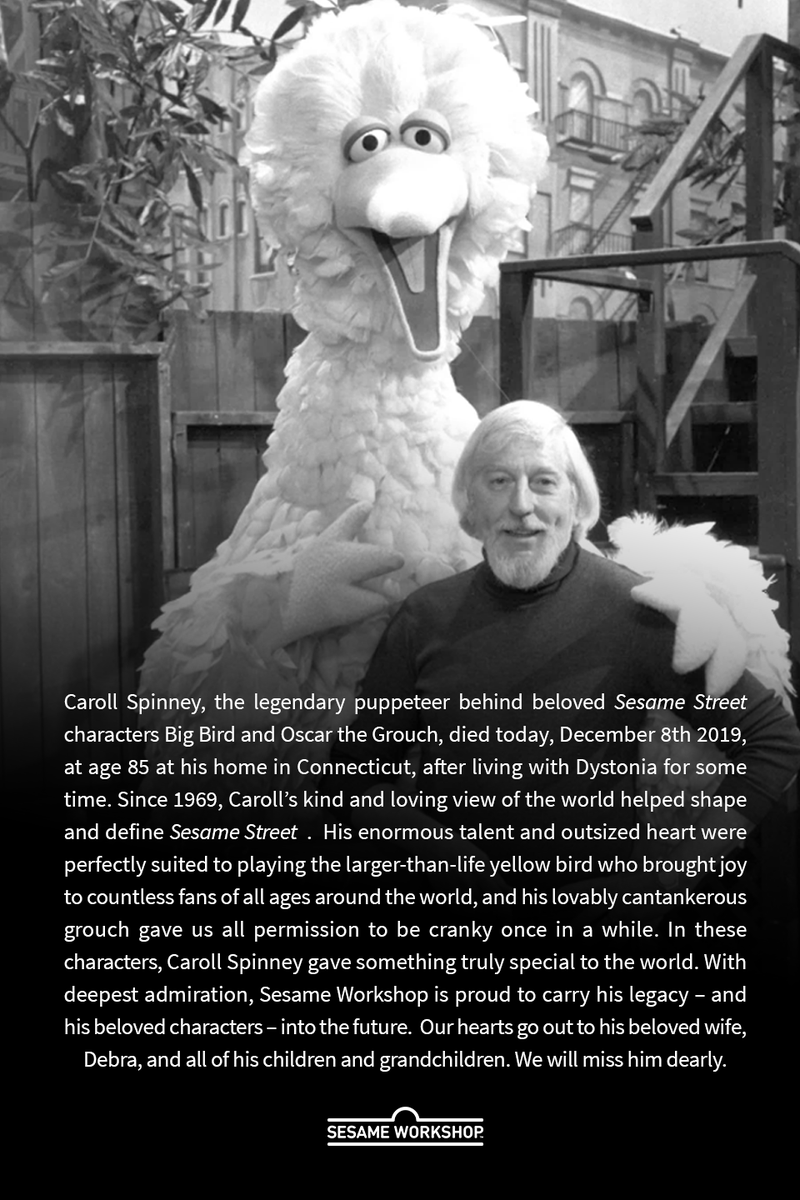 Caroll Spinney Who Played Big Bird And Oscar The Grouch Has