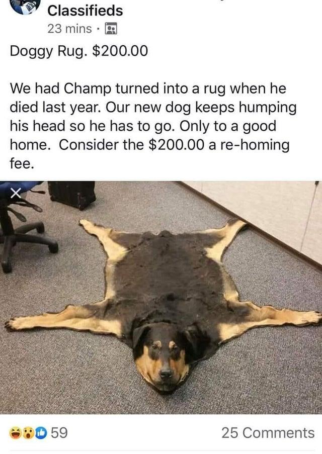 r/delusionalartists dog rugs | Dogs