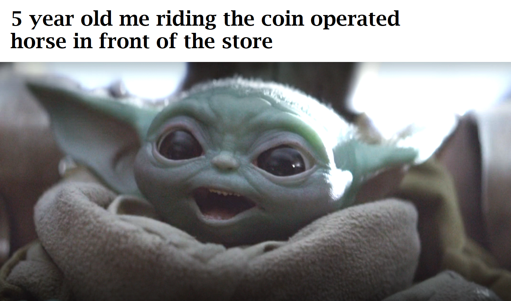 Baby Yoda Excited Movie Wallpaper