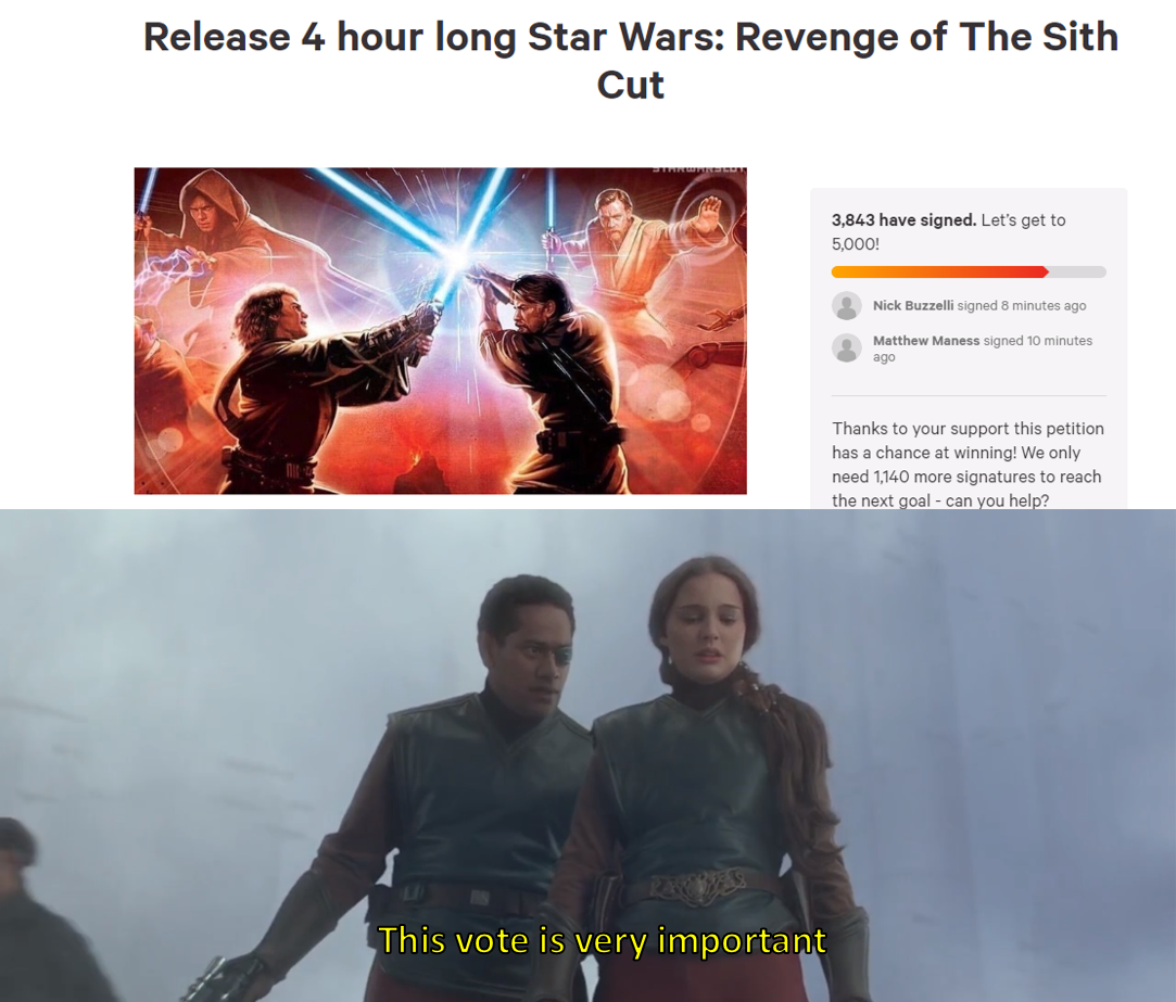 I Love Democracy R Prequelmemes Prequel Memes Know Your Meme