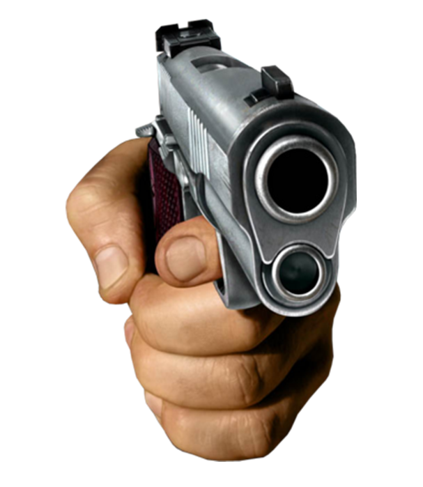 Hand Pointing a Gun Template #2 (Transparent PNG) | Hand ...