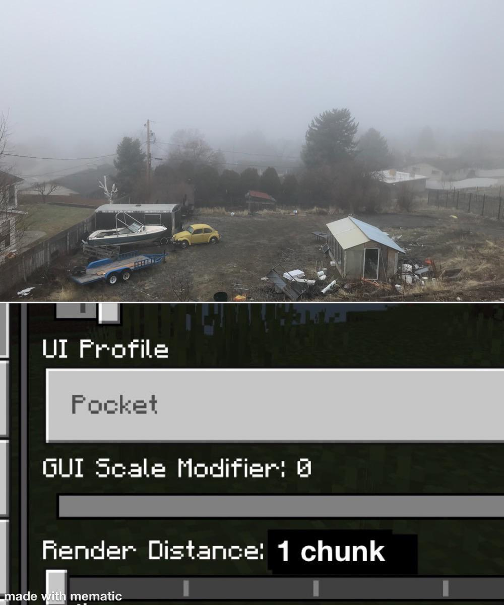 How It Feels Whenever It Gets Very Foggy Outside My House R Minecraftmemes Minecraft Know Your Meme
