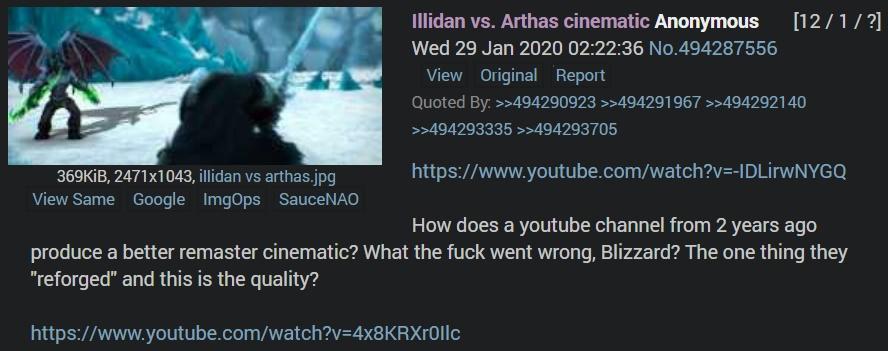 Illidan Vs Arthas Sinematic Warcraft Iii Reforged Know Your Meme