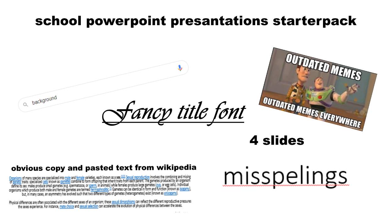 School Powerpoint Presentation Starterpack R Starterpacks Starter Packs Know Your Meme