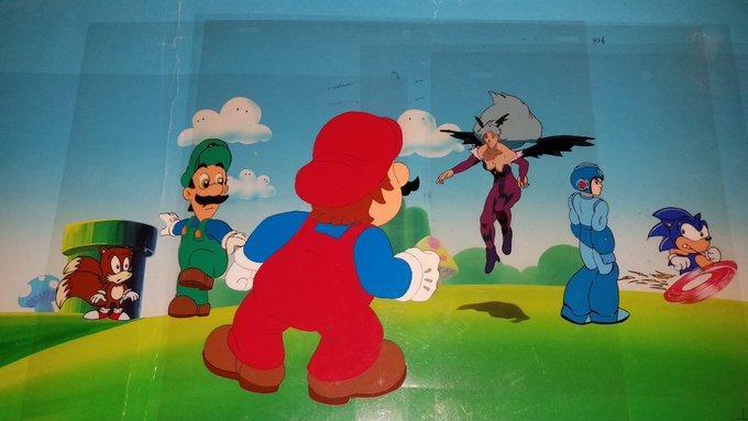 Cartoon Movie Of Nintendo Vs Sega Vs Capcom In The 90 S Super Smash Brothers Know Your Meme