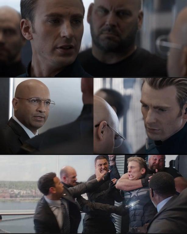 Template Captain America Elevator Fight Dad Joke Know Your Meme