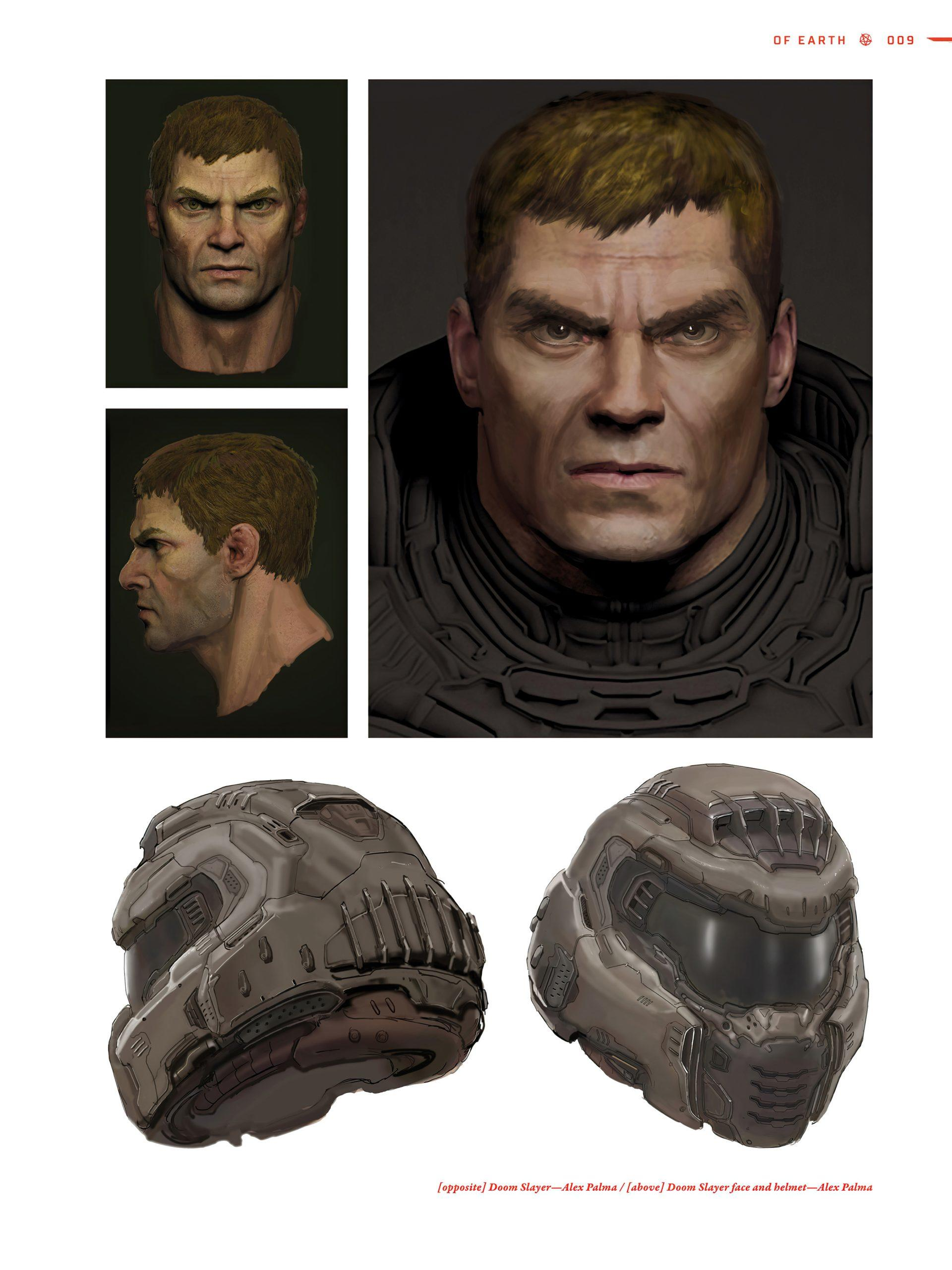 The Doom Slayer Without The Helmet From The Art Of Doom Eternal