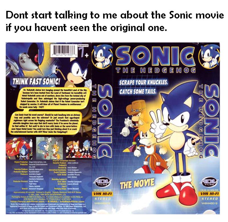 The Original Sonic The Hedgehog Movie Sonic The Hedgehog 2020 Film Know Your Meme