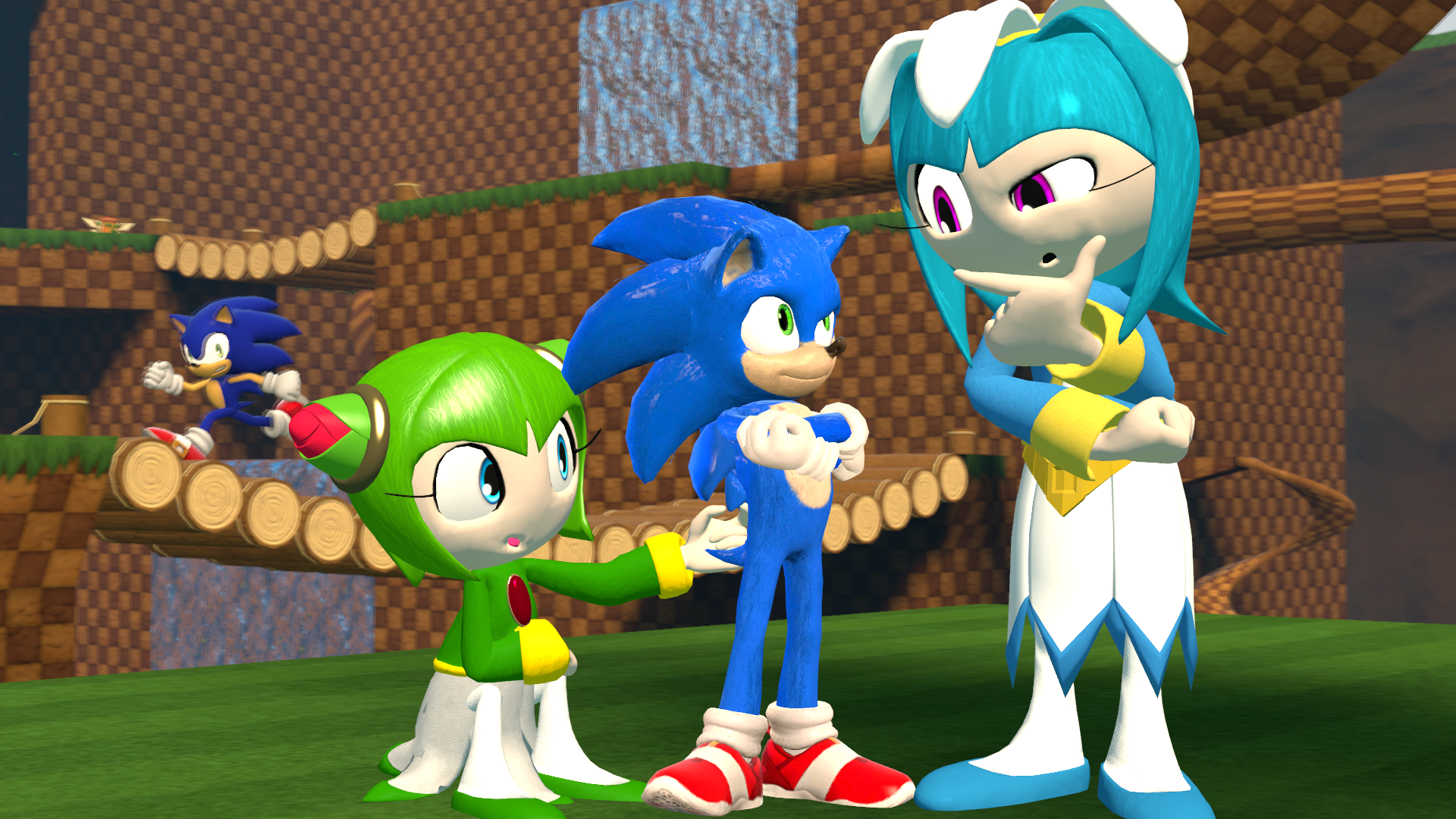 Cosmo And Galaxina Meeting Movie Sonic Sonic The Hedgehog 2020