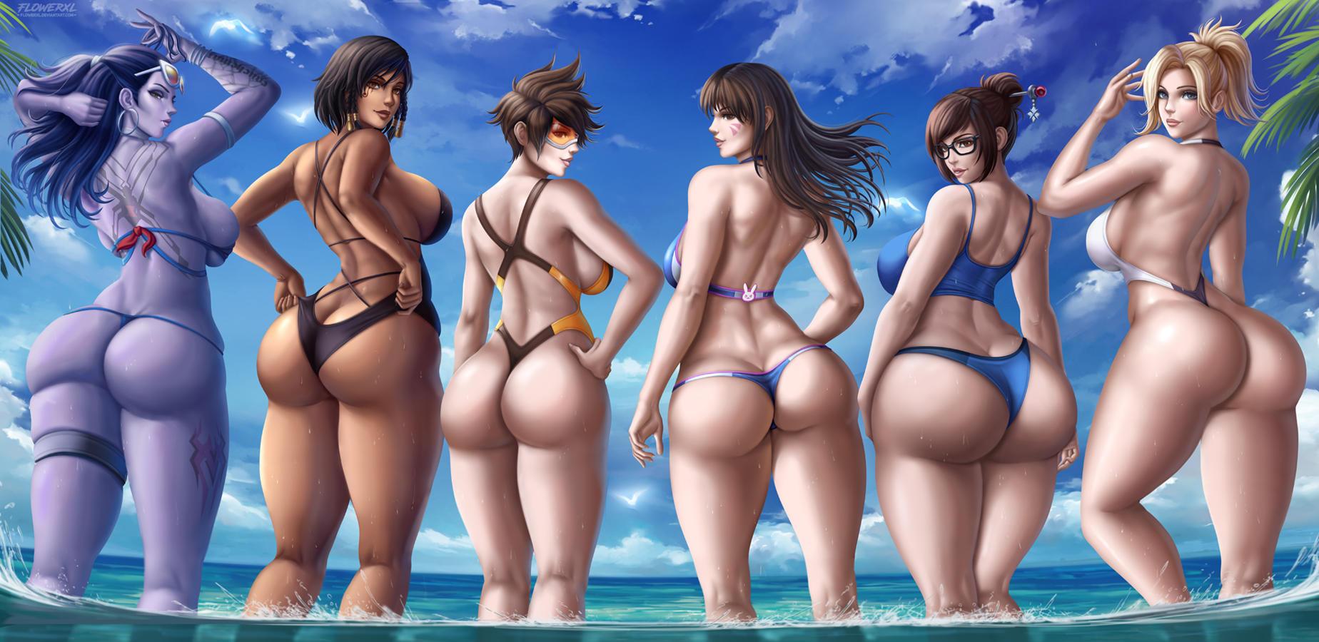 Overwatch Girls Ass
