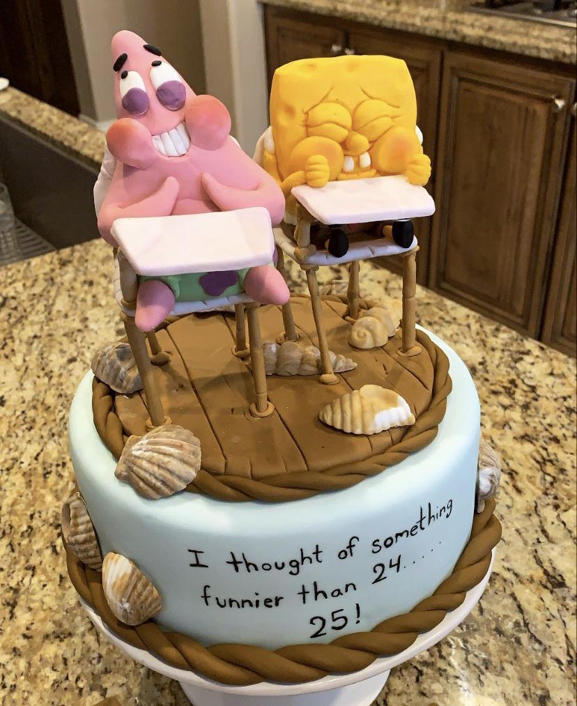 Phenomenal Todays My 25Th Birthday My Husband Is A Pastry Chef And Made Me Funny Birthday Cards Online Chimdamsfinfo