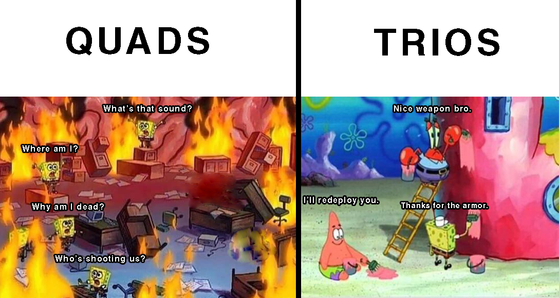 Quads Vs Trios Call Of Duty Warzone Know Your Meme