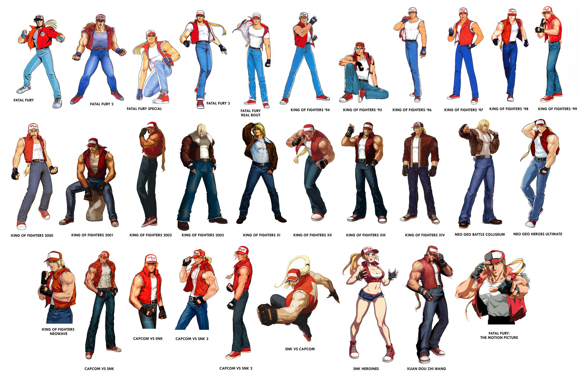 The Art History Of Terry Bogard Snk Fatal Fury And King Of