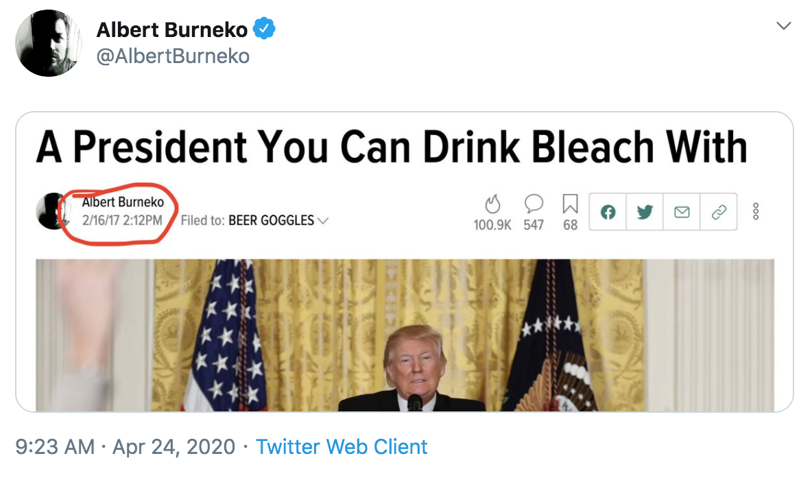 Bleach Trump S Inject Disinfectant Remarks Know Your Meme
