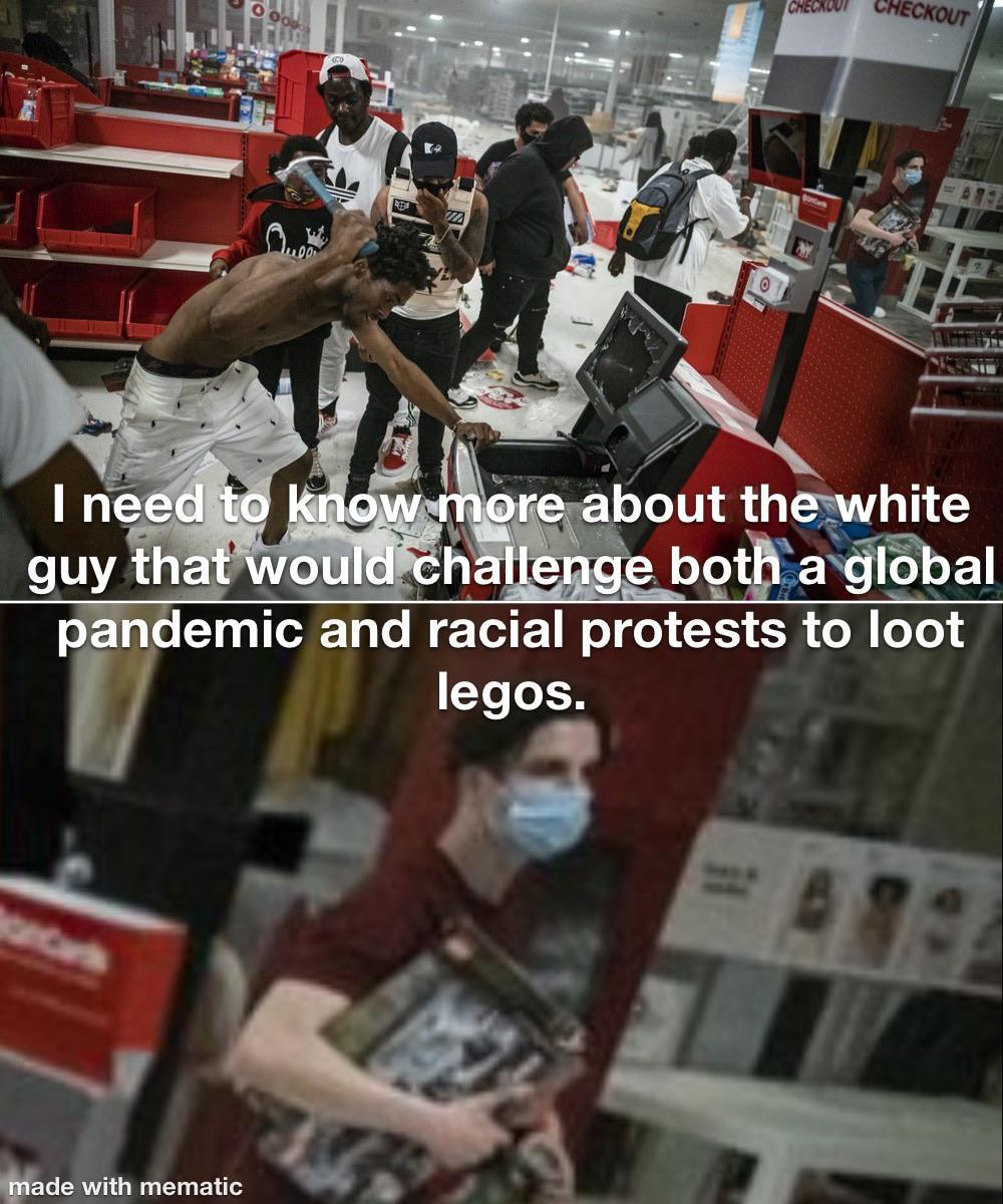Man Stealing Legos From Target In Midst Of Looting 2020 George