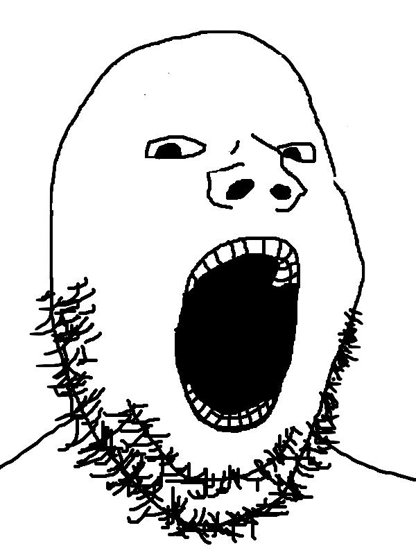 bald screaming soyjak | Soy Boy Face / Soyjak | Know Your Meme