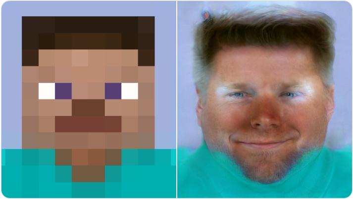 Face Depixelizer Minecraft Steve Face Depixelizer Know Your Meme