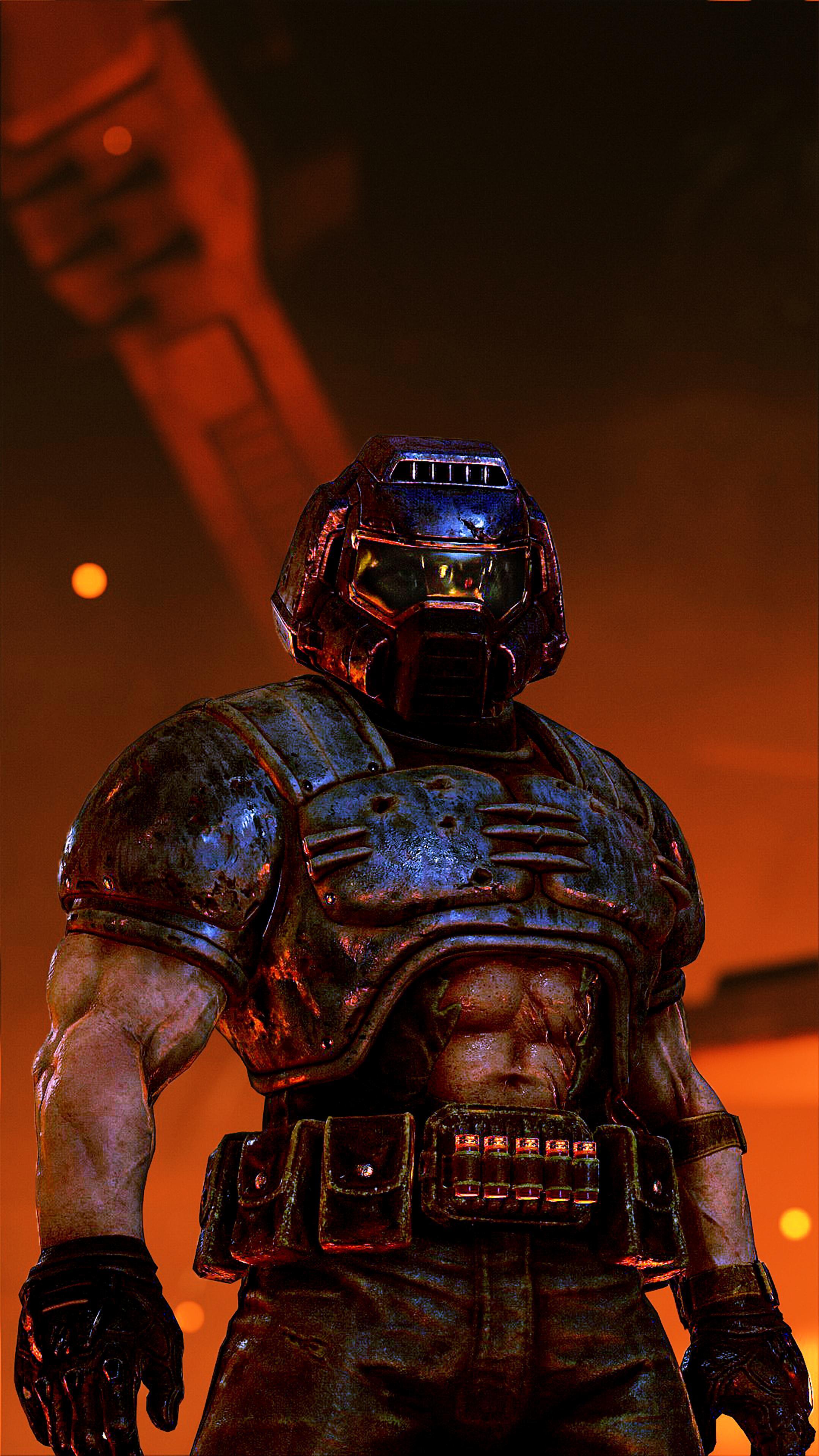 classic doom guy helmet
