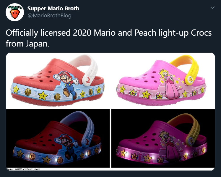 super mario light up shoes