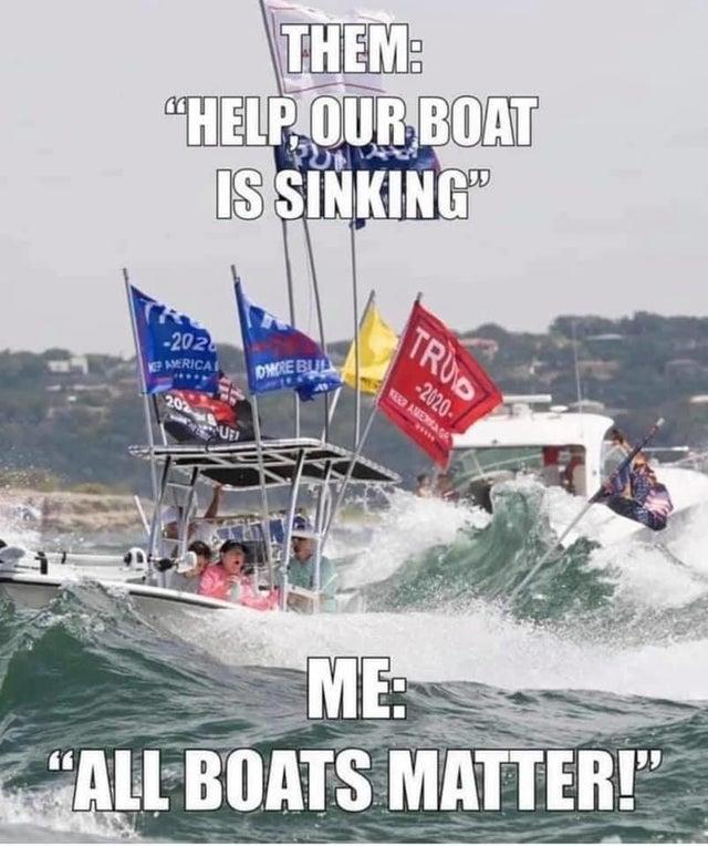All Boats Matter Trump Boat Parade On Lake Travis Texas Know Your Meme