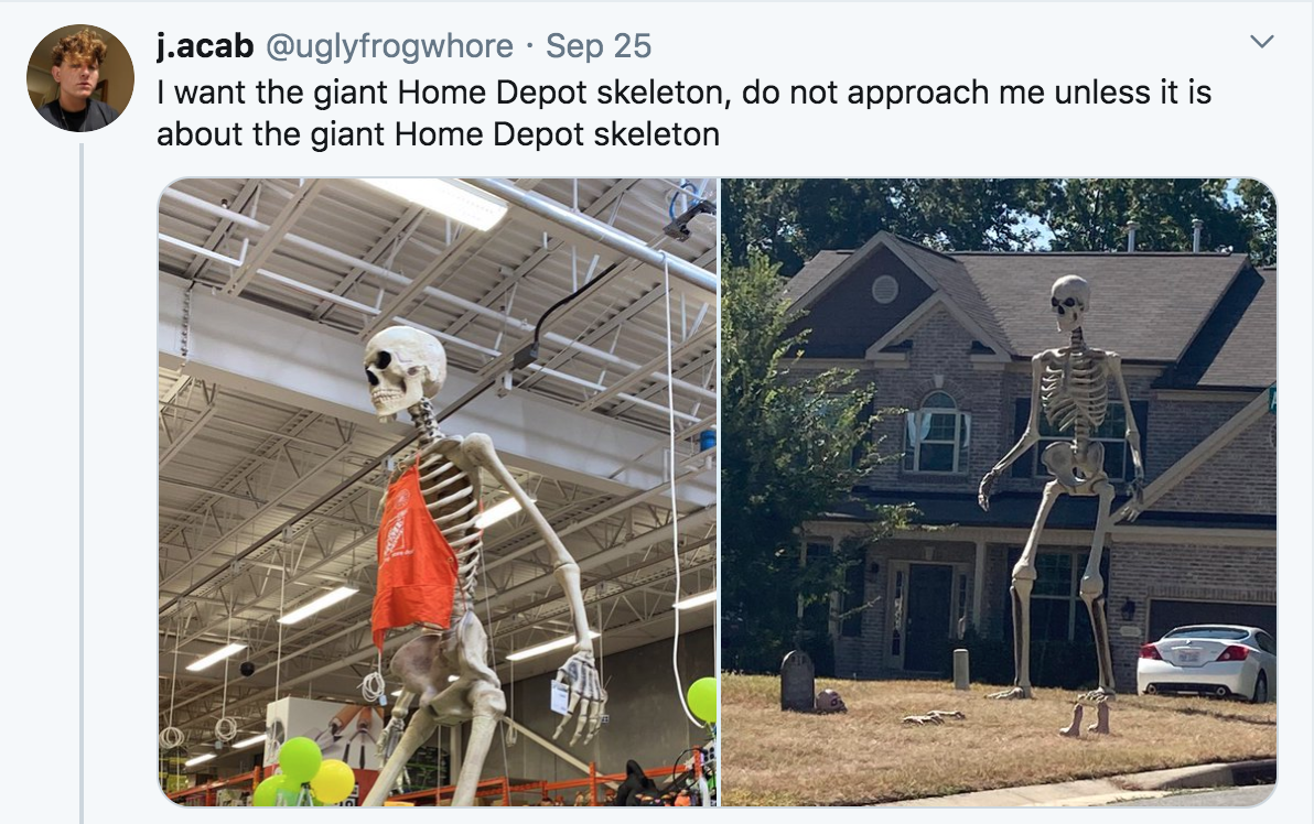 Only Approach Me 12 Foot Tall Home Depot Skeleton Know Your Meme