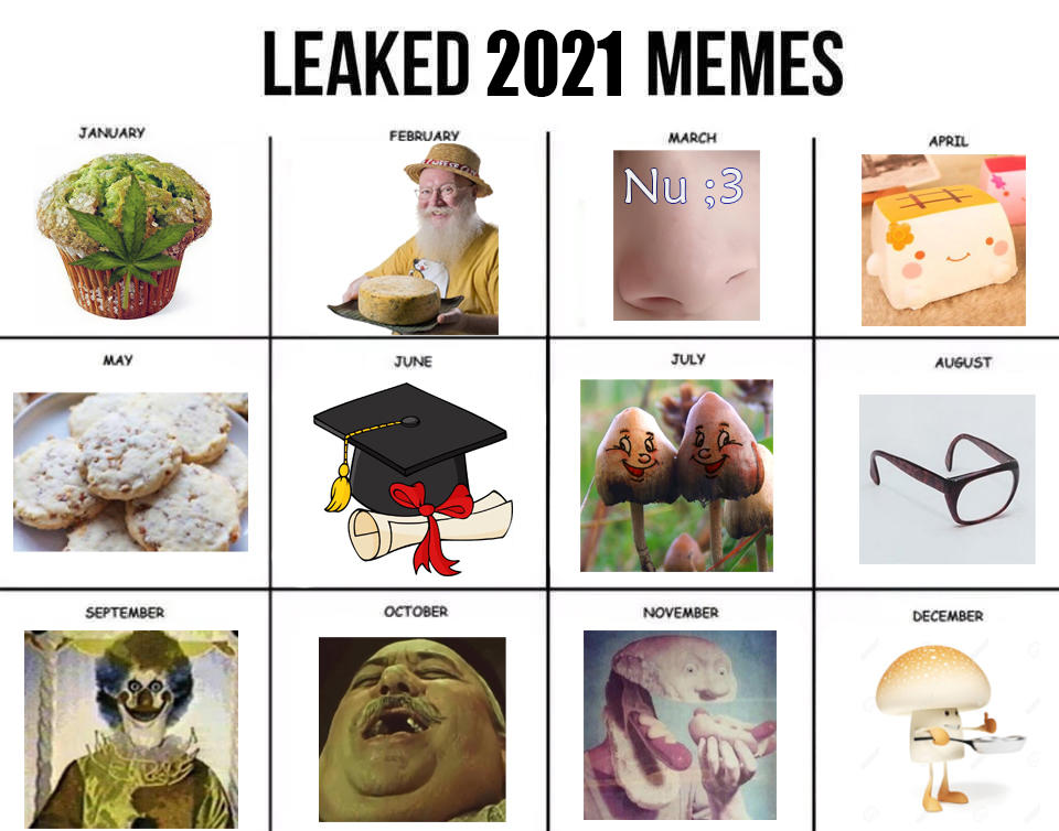 Meme Of The Month Calendar 2021 Images