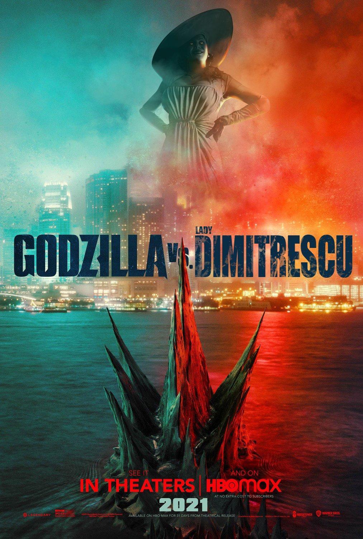 Godzilla vs lady Dimitrescu   Godzilla vs. Kong   Know Your Meme