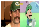 Aaron Rodgers Green Bay Packers Cartoon Facial Hair