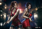 Ada And Claire Wallpaper By Ayyasap Resident Evil 2 Remake