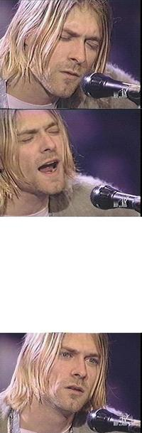 Kurt Cobain Dave Grohl hair face facial expression human hair color nose head forehead blond chin hairstyle emotion eye