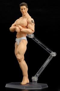 Billy Herrington standing bodybuilder bodybuilding joint human leg muscle arm figurine physical fitness