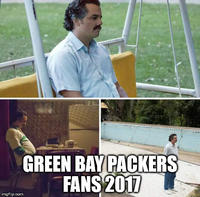 GREEN BAY PACKERS FANS 2017 imgflip.com