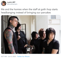 Goth Ihop Image Gallery Sorted By Score List View Know Your Meme Want to discover art related to goth_ihop? goth ihop image gallery sorted by