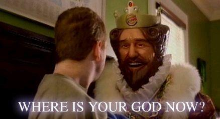 Image result for where is your god now king gif