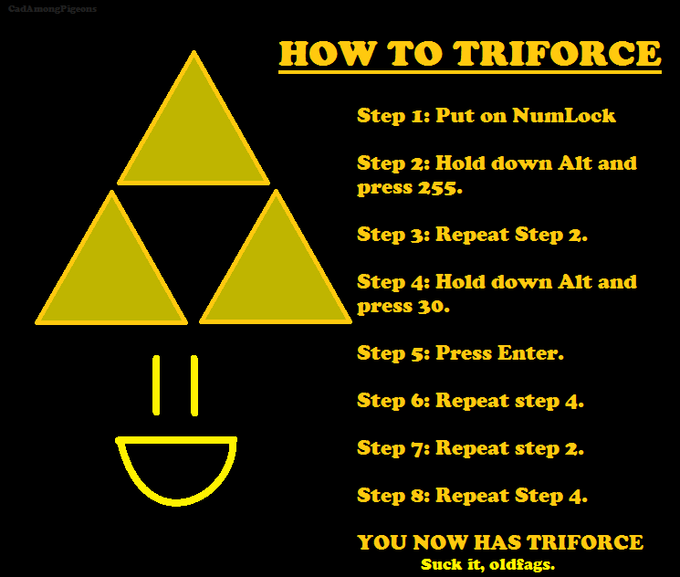 Newfags Can't Triforce | Know Your Meme