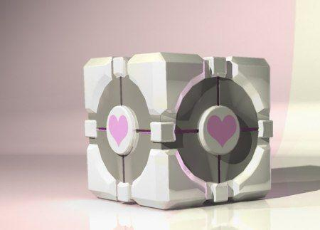 Portal 2 Half-Life 2 Episode Two Garryu0027s Mod Dead Space 2 purple product & The Weighted Companion Cube   Know Your Meme